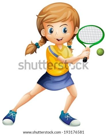 stock-vector-illustration-of-a-pretty-lady-playing-tennis-on-a-white-background