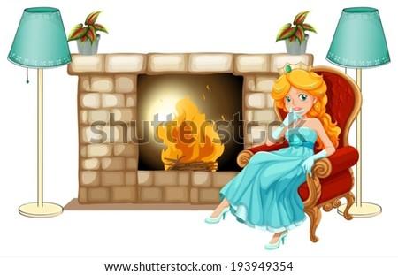 illustration of a princess near