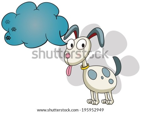 illustration of a puppy with an