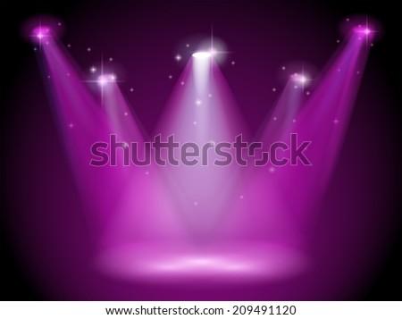 illustration of a purple stage