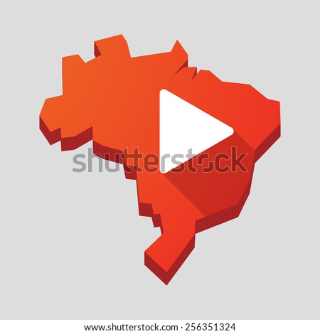 illustration of a red brazil