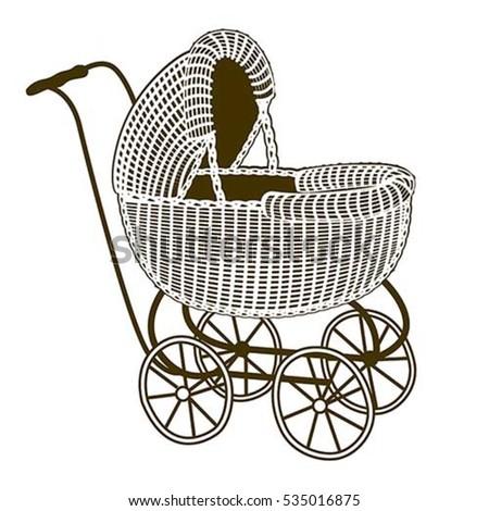 illustration of a retro baby