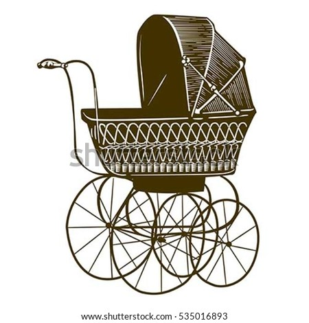 illustration of a retro baby