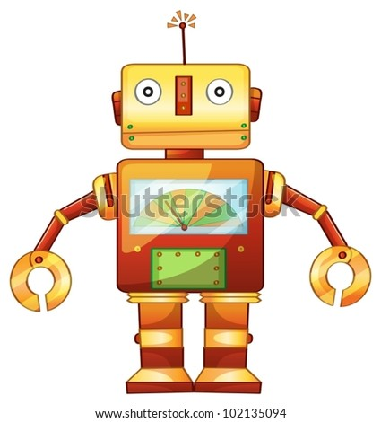 Illustration of a retro robot