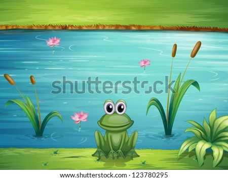 illustration of a river and a