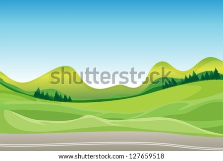 illustration of a road and a
