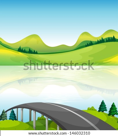 illustration of a road bridge