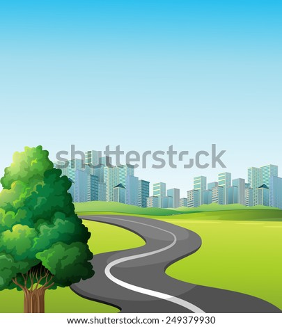 illustration of a road to the