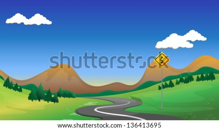 illustration of a road with a