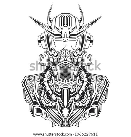 illustration of a robot gundam
