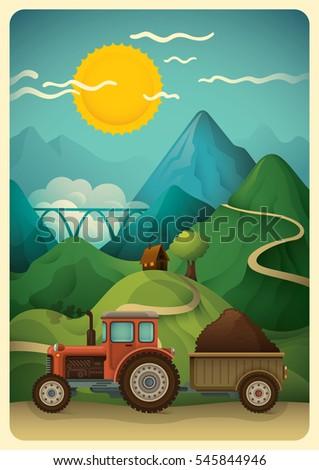 illustration of a rural
