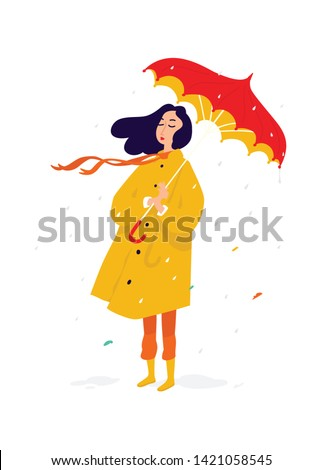 illustration of a sad girl in a