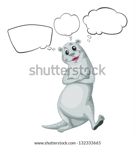 Illustration of a sea lion with empty callouts on a white background