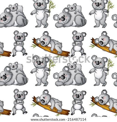 illustration of a seamless koala