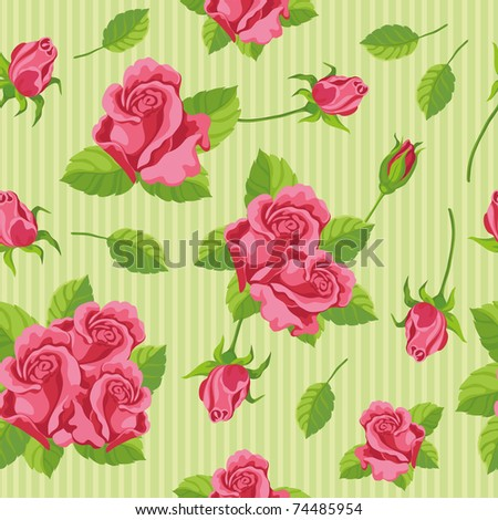 illustration of a seamless roses
