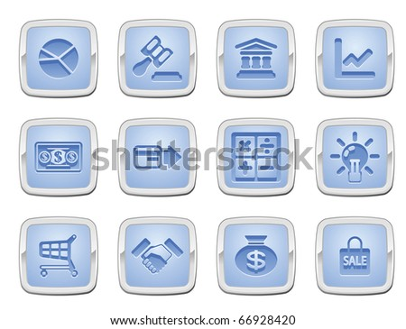illustration of a set of business and finance internet icons