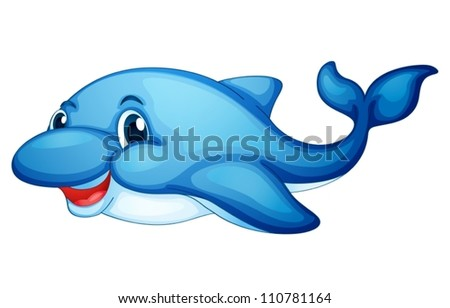 illustration of a shark fish on a white background
