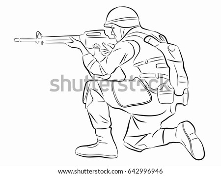 illustration of a shooting