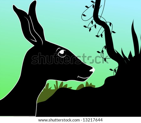 Illustration of a silhouette of deer