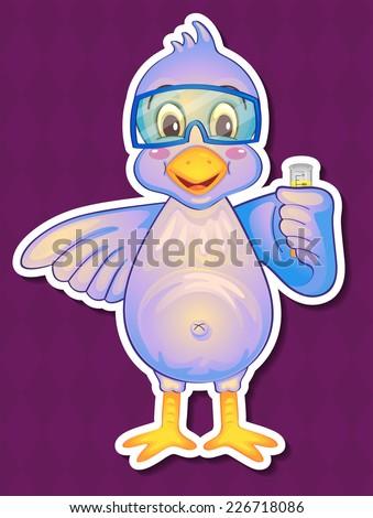 illustration of a single bird