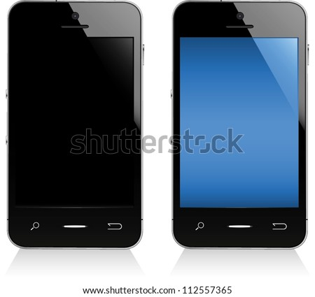 Illustration of a smart phone.  Fully editable vector graphics.