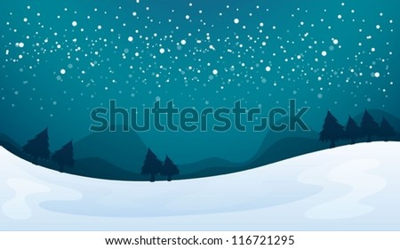 illustration of a snowfall and