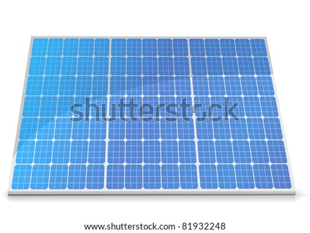 illustration of a solar cell module, eps8 vector