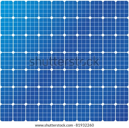illustration of a solar cell pattern, eps8 vector