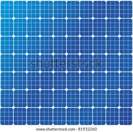illustration of a solar cell pattern, eps8 vector