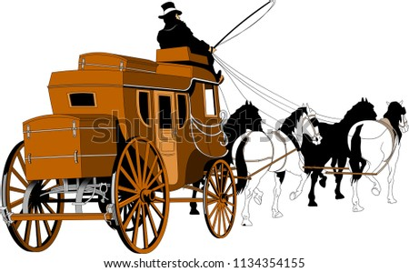 illustration of a stagecoach