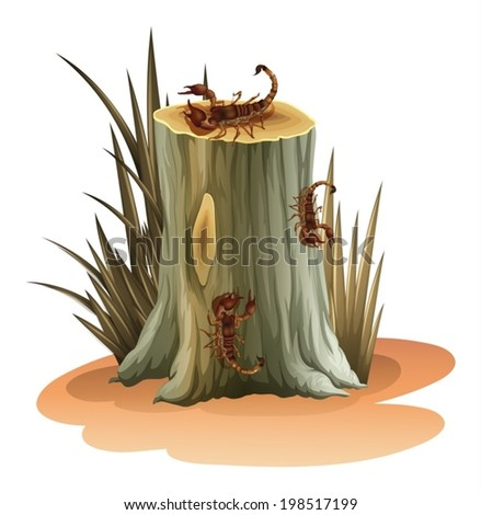 illustration of a stump with