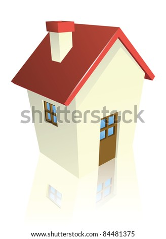Illustration of a stylised cottage or house