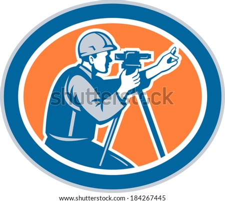 illustration of a surveyor