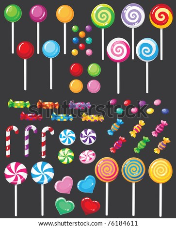 illustration of a sweets candy set