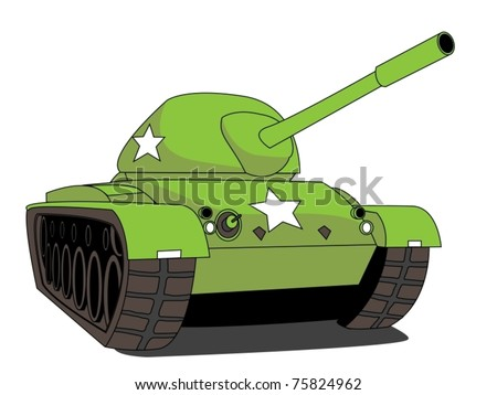 illustration of a tank