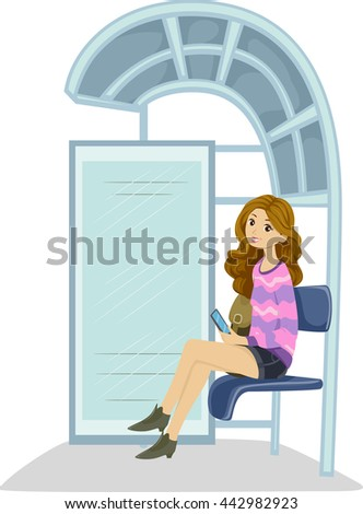illustration of a teenage girl