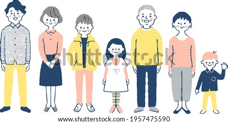 Illustration of a third generation family