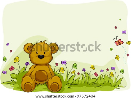 illustration of a toy bear