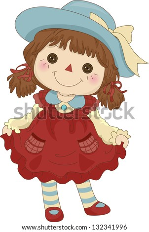 illustration of a toy rag doll