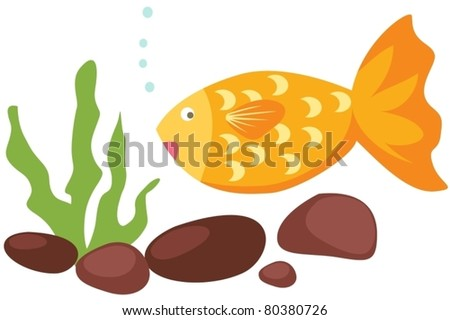illustration of a tropical fish