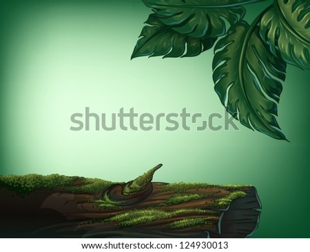 illustration of a trunk covered