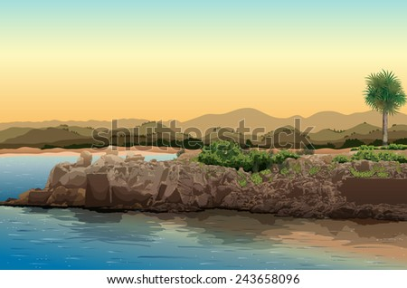 illustration of a view of an
