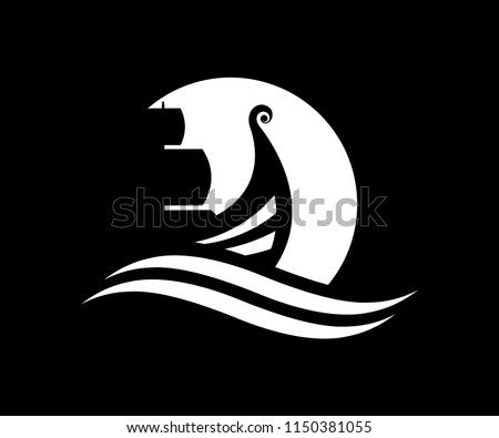 illustration of a viking ship