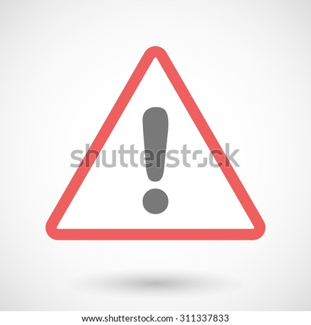Illustration of a warning sign with an exclamation sign