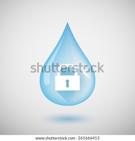 illustration of a water drop