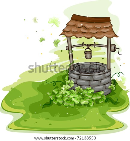 illustration of a well