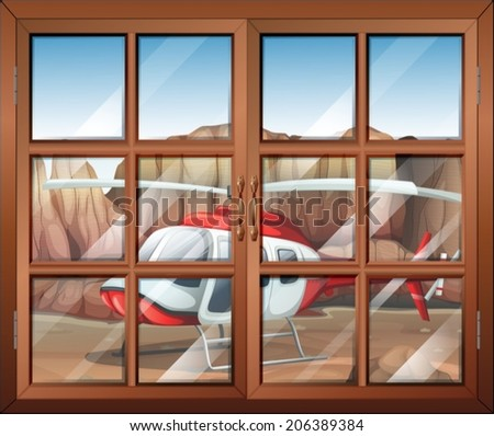 illustration of a window with a