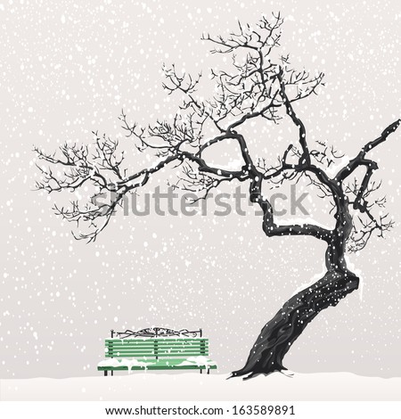 illustration of a winter