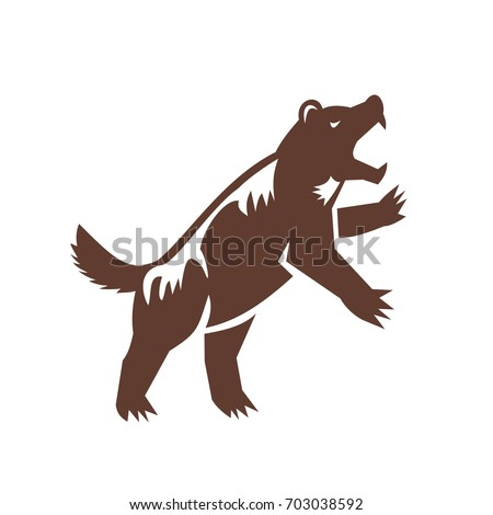 illustration of a wolverine