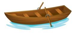 Illustration of a wooden boat